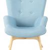 Le Fauteuil style scandinave bleu